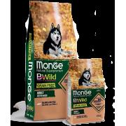 Monge Dog BWild GRAIN FREE беззерновой корм из лосося и гороха для взрослых соба...