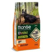 Monge Dog BWild GRAIN FREE Mini беззерновой корм из мяса утки с картофелем для в...