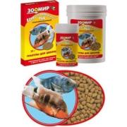 """Корм Зоомир """"Гранулы для цихлид"""" для рыб коробка 30гр (упаковка 10шт)..."""