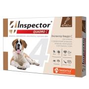 Капли Inspector Quadro от внешних и внутренних паразитов (от 40-60кг) 1 пипетка...