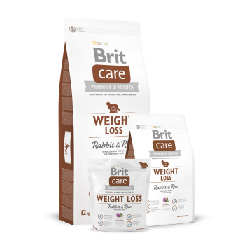 Сухой корм Brit Care Dog weight loss кролик для склонных к полноте собак