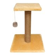 Когтеточка Гамма Стойка № 6 с полочкой и игрушкой однотонная, 360*360*450мм...
