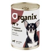 Консервы Organix Заливное из говядины с черникой для собак...