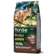 Сухой корм Monge Cat BWild GRAIN FREE беззерновой корм из мяса буйвола для крупн...