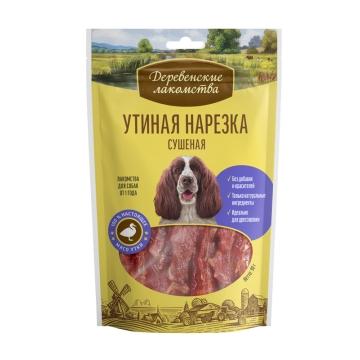 Лакомство Деревенские Лакомства утиная нарезка для собак, 90г