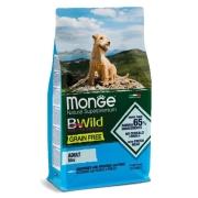 Monge Dog BWild GRAIN FREE Mini беззерновой корм из анчоуса с картофелем и горох...