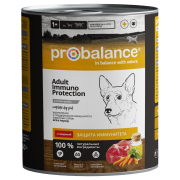 Консервы Probalance Immuno Protection Adult для взрослых собак с говядиной, 850г...