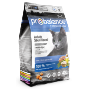Сухой корм ProBalance Sterilized для стерил. кошек/кастр. котов...