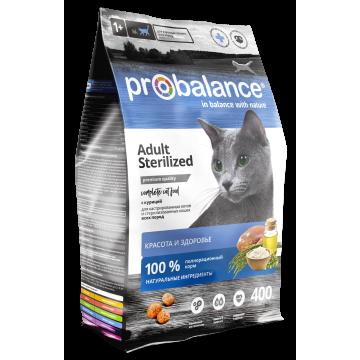 Сухой корм ProBalance Sterilized для стерил. кошек/кастр. котов