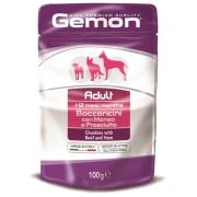 Gemon Dog Pouch паучи для собак кусочки говядины с ветчиной 100г...