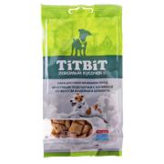 Лакомство TiTBiT Хрустящие подушечки с начинкой со вкусом индейки и шпината для ...
