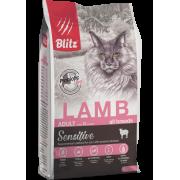 Сухой корм Blitz Sensitive Lamb Adult Cats All Breeds для взрослых кошек «Ягнёно...