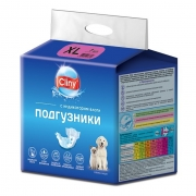 Подгузники Cliny для собак и кошек размер XL (15-30 кг, 40-45см), 7шт...