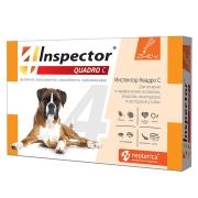 Капли Inspector Quadro от внешних и внутренних паразитов (от 25-40кг) 1 пипетка...