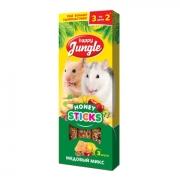 Лакомство Happy Jungle медовый микс для мелких грызунов, 3 вкуса...