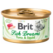 Консервы Brit Care Fish Dreams тунец и кальмар для кошек (80г)...