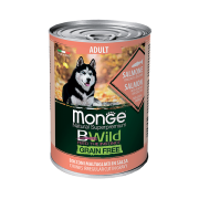 Monge Dog BWild GRAIN FREE беззерновые консервы из лосося с тыквой и кабачками д...