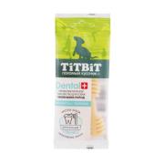 Лакомство TiTBiT Дентал + Зубочистка с творогом для собак...