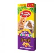 Лакомство Happy Jungle медовый микс для кроликов, шиншилл, морских свинок, 3 вку...