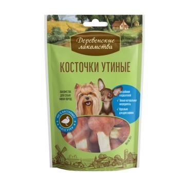 Лакомство Деревенские Лакомства косточки утиные для собак мини-пород, 55г