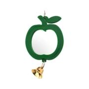 "Игрушка для птиц Zoo-M зеркало ""Яблочко"" с колокольчиком d50..."