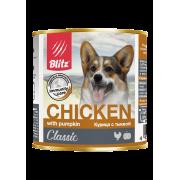 Консервы Blitz Classic Dog Chicken & Rice (Minced) для собак всех пород и во...