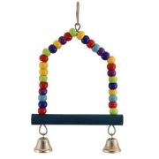 Игрушка для птиц Triol Качели-бусины с колокольчиками 24 см...