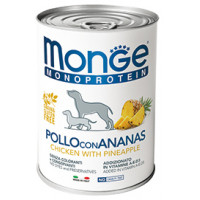 Monge Dog Monoproteico Fruits консервы для собак паштет из курицы с рисом и ананасами 400г