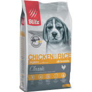 Сухой корм Blitz Classic Chicken & Rice Puppy All Breeds для щенков всех пор...