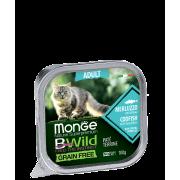 Консервы Monge Cat BWild GRAIN FREE беззерновые из трески с овощами для взрослых...