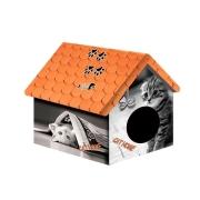 Дом PerseiLine для животных Дизайн Кошка с газетой 33 х 33 х 40 см...