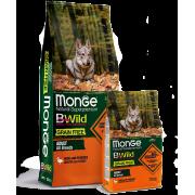 Сухой корм Monge Dog BWild GRAIN FREE беззерновой из мяса утки с картофелем для ...
