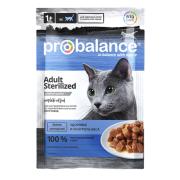 ProBalance Sterilized для стерилиз.кошек / кастр. котов, пауч 85 гр...