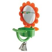 Игрушка для птиц Triol зеркало с бусинами и ванночкой 7,5*15 см...
