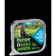 Консервы Monge Cat BWild GRAIN FREE беззерновые из анчоусов с овощами для взросл...