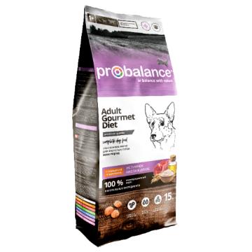 Сухой корм ProBalance Gourmet diet Adult с говядиной и кроликом для взрослых собак, 15 кг