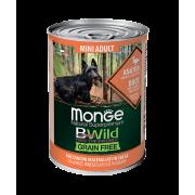 Monge Dog BWild GRAIN FREE Mini беззерновые консервы из утки с тыквой и кабачкам...