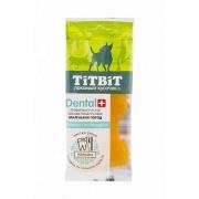 Лакомство TiTBiT Дентал + Зубочистка с мясом индейки для собак...