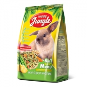 Корм Happy Jungle для молодых кроликов, 400гр