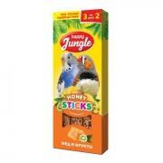 Лакомство Happy Jungle мед и фрукты для птиц 3 шт.
