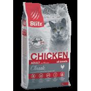 Сухой корм Blitz Classic Chicken Adult Cats All Breeds для взрослых кошек «Куриц...