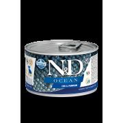 Farmina N&D Dog Ocean для собак, треска и тыква для щенков мини-пород 140г...