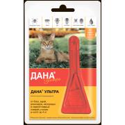 Apicenna: Дана Ультра (1 пип) капли от блох 0,32мл для кошек и котят до 4 кг ...