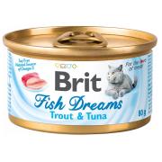 Консервы Brit Care Fish Dreams форель и тунец для кошек (80г)...