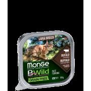 Консервы Monge Cat BWild GRAIN FREE беззерновые из буйвола с овощами для кошек к...