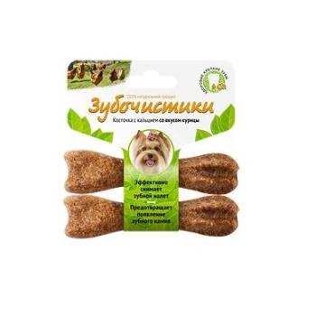 Лакомство Зубочистики для собак мелких пород косточка со вкусом курицы (2шт*18г)