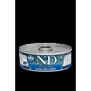 Farmina N&D Cat Ocean для кошек, сибас, кальмар и креветки 80г...