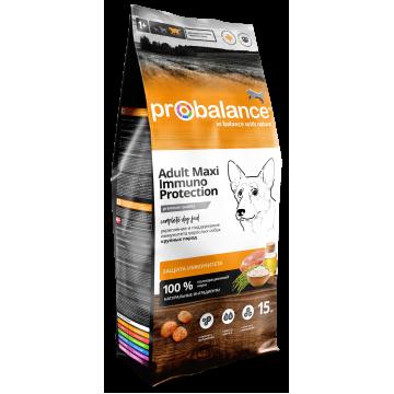 Сухой корм ProBalance Immuno Adult Maxi для взрослых собак крупных пород