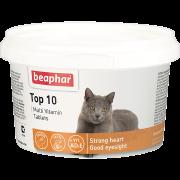 """Витамины Beaphar """"Top 10"""" со вкусом креветок для кошек  (180шт) ..."""