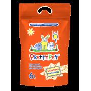 Наполнитель Pretty Cat 2кг/6л. для грызунов древесный с морковными чипсами...